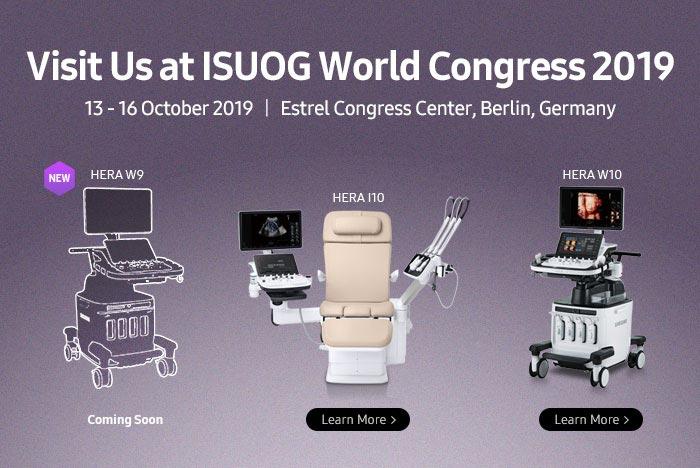 Visit Us at ISUOG World Congress 2019, 13 - 16 October 2019 | Estrel Congress Center, Berlin, Germany