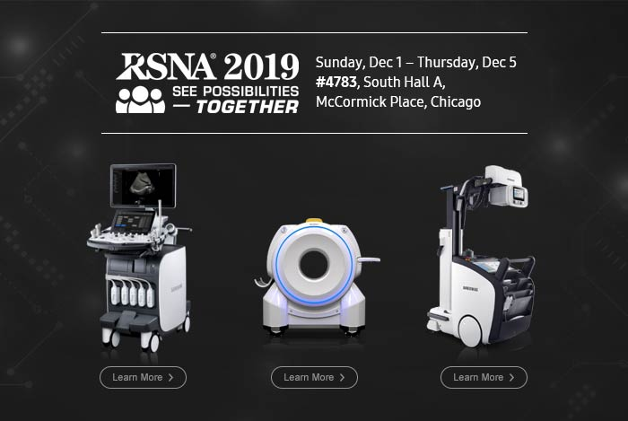 RSNA2019 SEE POSSIBILITIES TOGETHER, Sunday, Dec 1 – Thursday, Dec 5 #4783, South Hall A, McCormick Place, Chicago